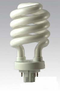 Four-pin CFL bulb without integrated ballast