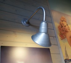 Gooseneck lights have a dual purpose! Use indoors to highlight objects like artwork or use outdoors to increase safety.