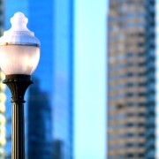 Design Tip: Vintage-style lamp posts give city streets a Gaslamp Quarter feel.